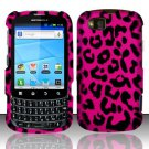 Hard Rubber Feel Design Case for Motorola Admiral XT603 (Sprint) - Pink Leopard