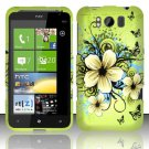 Hard Rubber Feel Design Case for HTC Titan X310e (AT&T) - Hawaiian Flowers