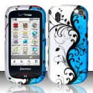 Hard Rubber Feel Design Case for Pantech Hotshot 8992 - Blue Vines