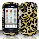 Hard Rubber Feel Design Case for Pantech Hotshot 8992 - Cheetah