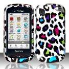 Hard Rubber Feel Design Case for Pantech Hotshot 8992 - Colorful Leopard