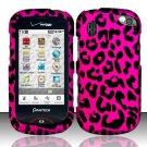 Hard Rubber Feel Design Case for Pantech Hotshot 8992 - Pink Leopard