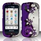 Hard Rubber Feel Design Case for Pantech Hotshot 8992 - Purple Vines