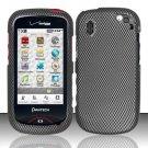 Hard Rubber Feel Design Case for Pantech Hotshot 8992 - Carbon Fiber