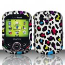 Hard Rubber Feel Design Case for Pantech Jest 2 - Colorful Leopard