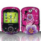 Hard Rubber Feel Design Case for Pantech Jest 2 - Hibiscus Flowers