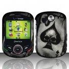 Hard Rubber Feel Design Case for Pantech Jest 2 - Spade Skull