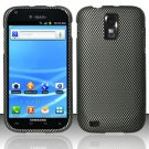 Hard Rubber Feel Design Case for Samsung Hercules/Galaxy S2 - Carbon Fiber