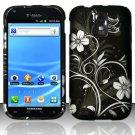 Hard Rubber Feel Design Case for Samsung Hercules/Galaxy S2 - Midnight Garden