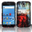 Hard Rubber Feel Design Case for Samsung Hercules/Galaxy S2 - Colorful Art