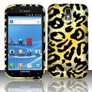 Hard Rubber Feel Design Case for Samsung Hercules/Galaxy S2 - Cheetah