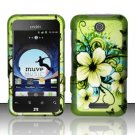 Hard Rubber Feel Design Case for ZTE Score - Hawaiian Flowers