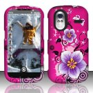 Hard Rubber Feel Design Case for HTC Amaze 4G (T-Mobile) - Hibiscus Flowers