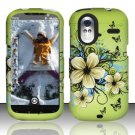 Hard Rubber Feel Design Case for HTC Amaze 4G (T-Mobile) - Hawaiian Flowers