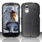Hard Rubber Feel Design Case for HTC Amaze 4G (T-Mobile) - Carbon Fiber