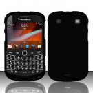 Hard Rubber Feel Plastic Case for Blackberry Bold Touch 9900 - Black