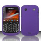 Hard Rubber Feel Plastic Case for Blackberry Bold Touch 9900 - Purple