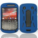 Hard Robot Armor Case for Blackberry Bold Touch 9900 - Blue