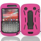 Hard Robot Armor Case for Blackberry Bold Touch 9900 - Hot Pink