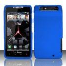 Hard Rubber Feel Plastic Case for Motorola Droid RAZR XT912 (Verizon) - Blue