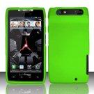 Hard Rubber Feel Plastic Case for Motorola Droid RAZR XT912 (Verizon) - Neon Green
