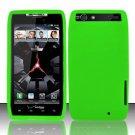 Soft Premium Silicone Case for Motorola Droid RAZR XT912 (Verizon) - Neon Green