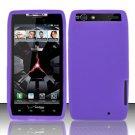 Soft Premium Silicone Case for Motorola Droid RAZR XT912 (Verizon) - Purple