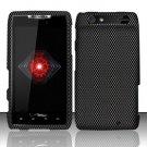 Hard Rubber Feel Design Case for Motorola Droid RAZR XT912 (Verizon) - Carbon Fiber