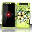 Hard Rubber Feel Design Case for Motorola Droid RAZR XT912 (Verizon) - Hawaiian Flowers