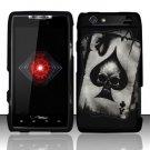 Hard Rubber Feel Design Case for Motorola Droid RAZR XT912 (Verizon) - Spade Skull