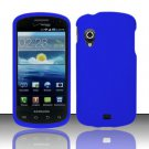 Hard Rubber Feel Plastic Case for Samsung Stratosphere - Blue