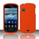 Hard Rubber Feel Plastic Case for Samsung Stratosphere - Orange