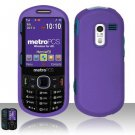 Hard Rubber Feel Plastic Case for Samsung Messager 3 - Purple