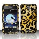Hard Rubber Feel Design Case for ZTE Score - Cheetah Design