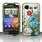 Hard Rubber Feel Design Case for HTC DROID Incredible 2 6350 (Verizon) - Autumn Garden
