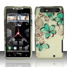 Hard Rubber Feel Design Case for Motorola Droid RAZR XT912 (Verizon) - Azure Flowers