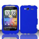 Hard Rubber Feel Plastic Case for HTC Wildfire S - Blue