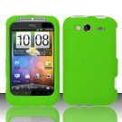 Hard Rubber Feel Plastic Case for HTC Wildfire S - Neon Green