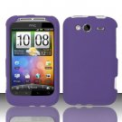 Hard Rubber Feel Plastic Case for HTC Wildfire S - Purple
