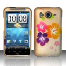 Hard Rubber Feel Design Case for HTC Inspire 4G/Desire HD - Colorful Flowers
