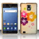 Hard Rubber Feel Design Case for Samsung Infuse 4G - Colorful Flowers