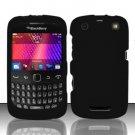 Hard Rubber Feel Plastic Case for Blackberry Curve 9360/9370 - Black