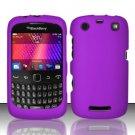 Hard Rubber Feel Plastic Case for Blackberry Curve 9360/9370 - Purple