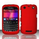 Hard Rubber Feel Plastic Case for Blackberry Curve 9360/9370 - Red