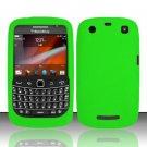 Soft Premium Silicone Case for Blackberry 9360/9370 - Neon Green