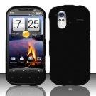 Hard Rubber Feel Plastic Case for HTC Amaze 4G (T-Mobile) - Black
