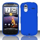 Hard Rubber Feel Plastic Case for HTC Amaze 4G (T-Mobile) - Blue