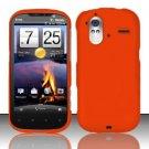 Hard Rubber Feel Plastic Case for HTC Amaze 4G (T-Mobile) - Orange