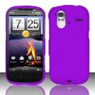 Hard Rubber Feel Plastic Case for HTC Amaze 4G (T-Mobile) - Purple