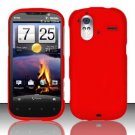 Hard Rubber Feel Plastic Case for HTC Amaze 4G (T-Mobile) - Red